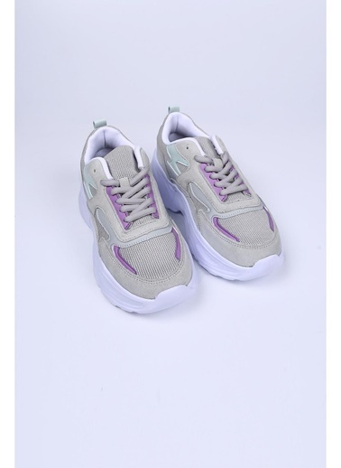 Female Project Gri Hakiki Deri Sneaker Gri